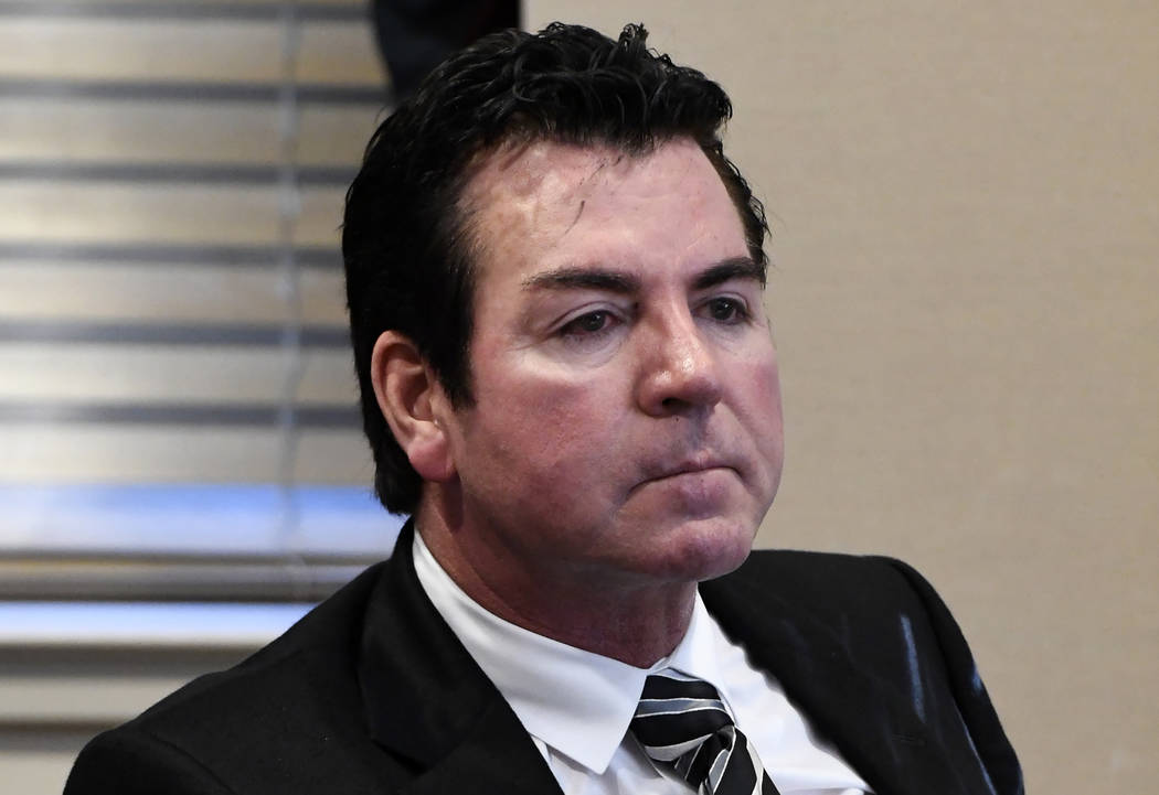 In this Wednesday, Oct. 18, 2017, file photo, Papa John's founder and CEO John Schnatter attends a meeting in Louisville, Ky. (AP Photo/Timothy D. Easley, File)
