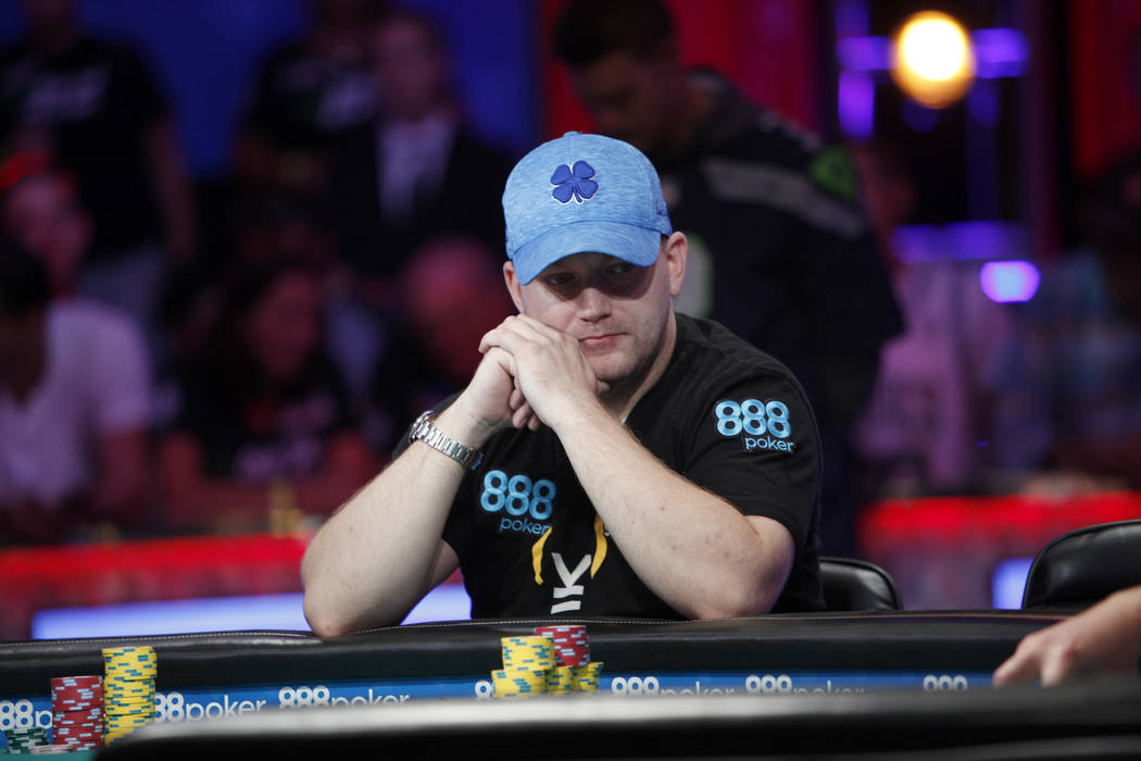 Nicolas Manion during the eighth day of the World Series of Poker tournament at the Rio Convention Center in Las Vegas, Thursday, July 12, 2018. Rachel Aston Las Vegas Review-Journal @rookie__rae