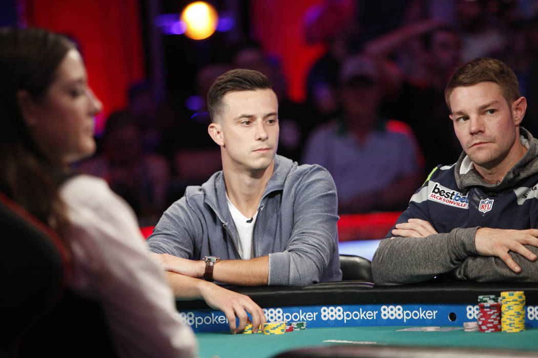 Alexander Lynskey on the eighth day of the World Series of Poker tournament at the Rio Convention Center in Las Vegas, Thursday, July 12, 2018. Artem Metalidi and Alexander Lynskey were eliminated ...