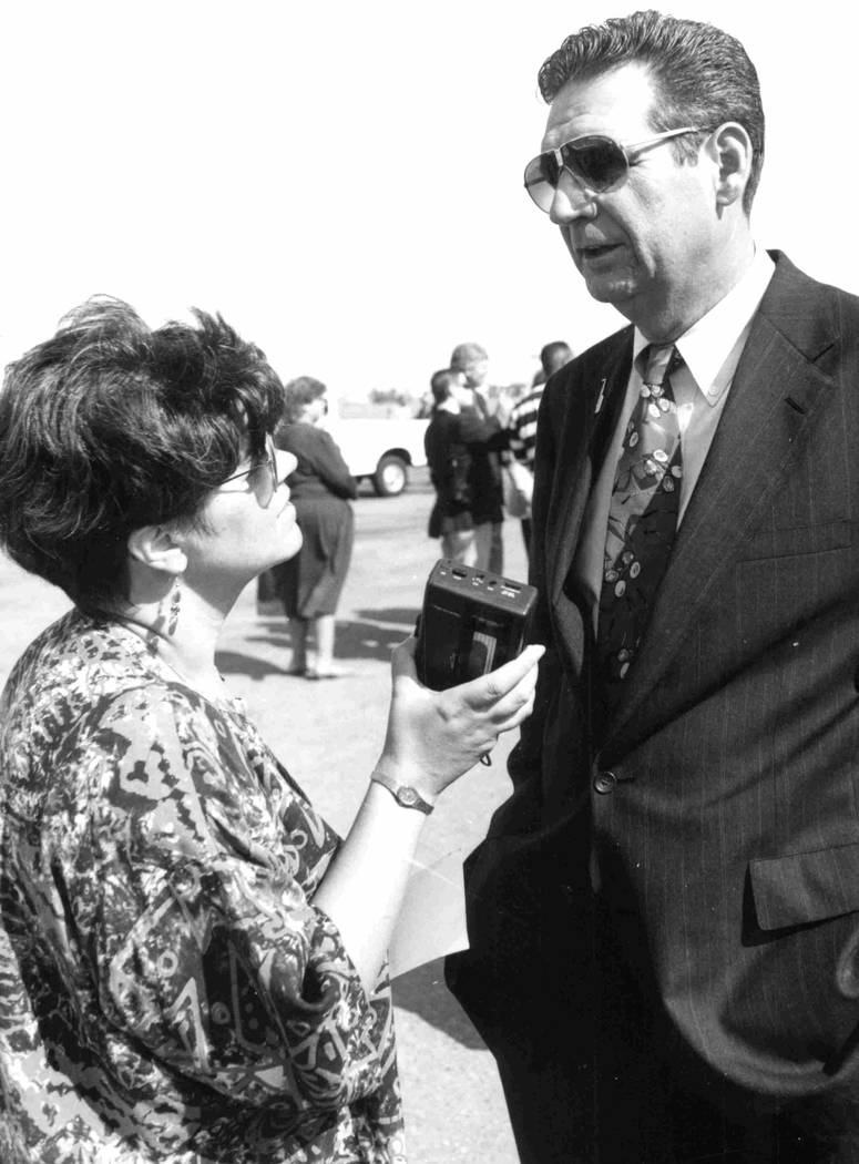 Political reporter Jane Ann Morrison covered Gov. Bob Miller's 10 years as governor between 1989 and 1999. (Las Vegas Review-Journal file photo)