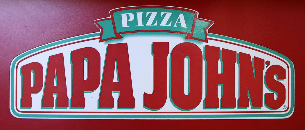The logo of Papa John's is displayed at a pizza store in Quincy, Mass. on Dec. 21, 2017. (AP Photo/Charles Krupa, File)
