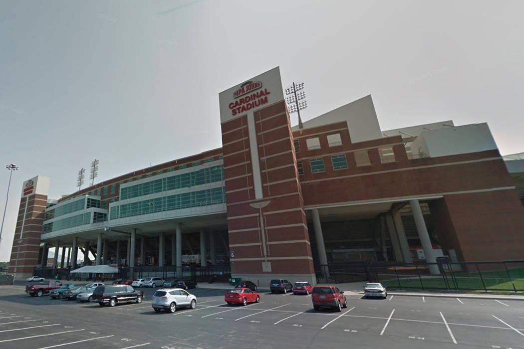 Papa John's Cardinal Stadium at the University of Lousiville in Louisville, Ky. (Screenshot/Google Maps)