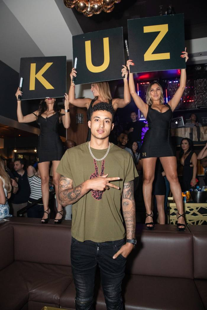 Kyle Kuzma of the Los Angeles Lakers is shown at Hyde Bellagio on Wednesday, July 11, 2018. (Hyde Bellagio)