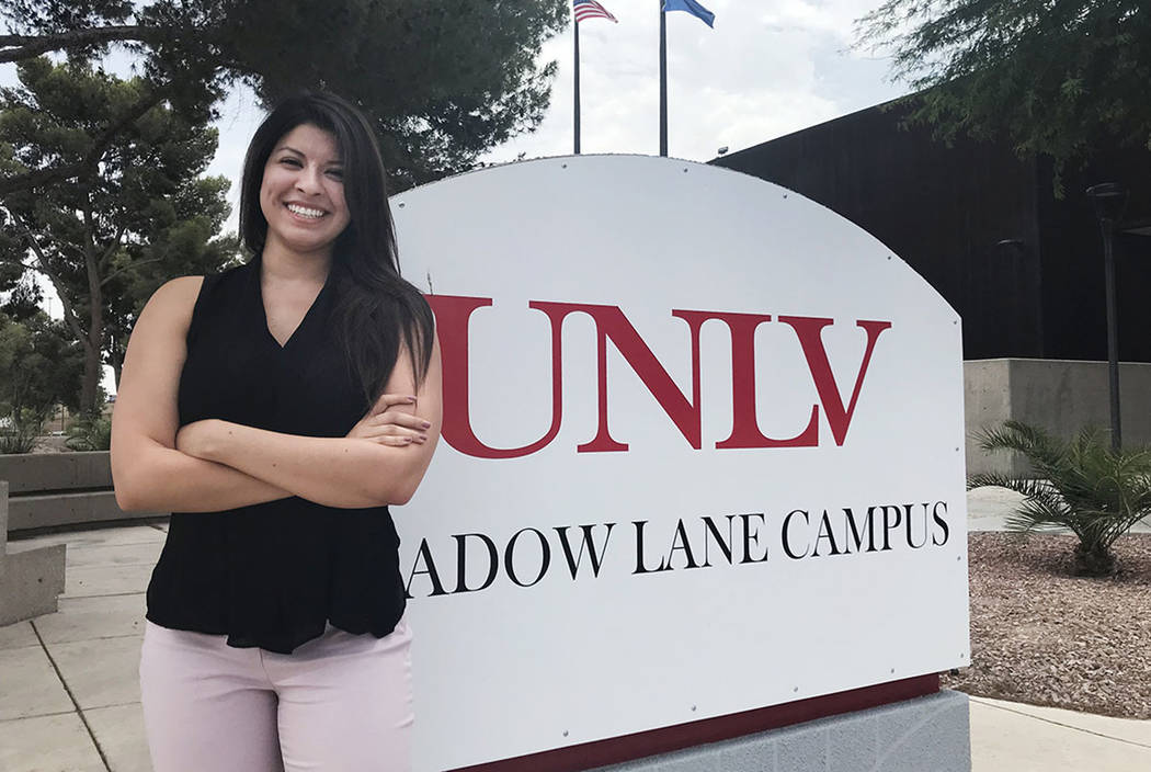 Kathie Velez, 27, of Las Vegas, is seen at the UNLV School of Medicine on Monday, July 9. Velez is a member of the second class of students for UNLV's medical school. She begins her studies on Mon ...
