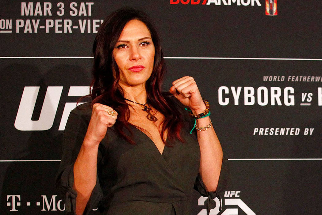 UFC women's bantamweight Cat Zingano, seen at the MGM Grand in Las Vegas, Thursday, March 1, 2018. (Heidi Fang Las Vegas Review-Journal @HeidiFang)