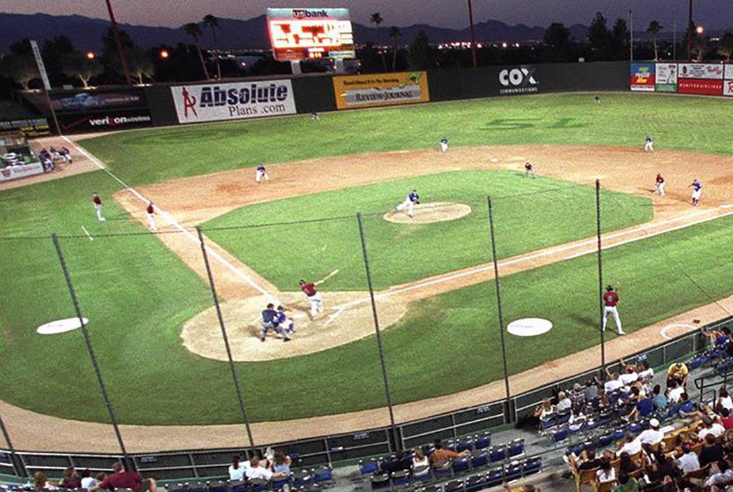 The Las Vegas 51s play at Cashman Field. (Las Vegas Review-Journal)