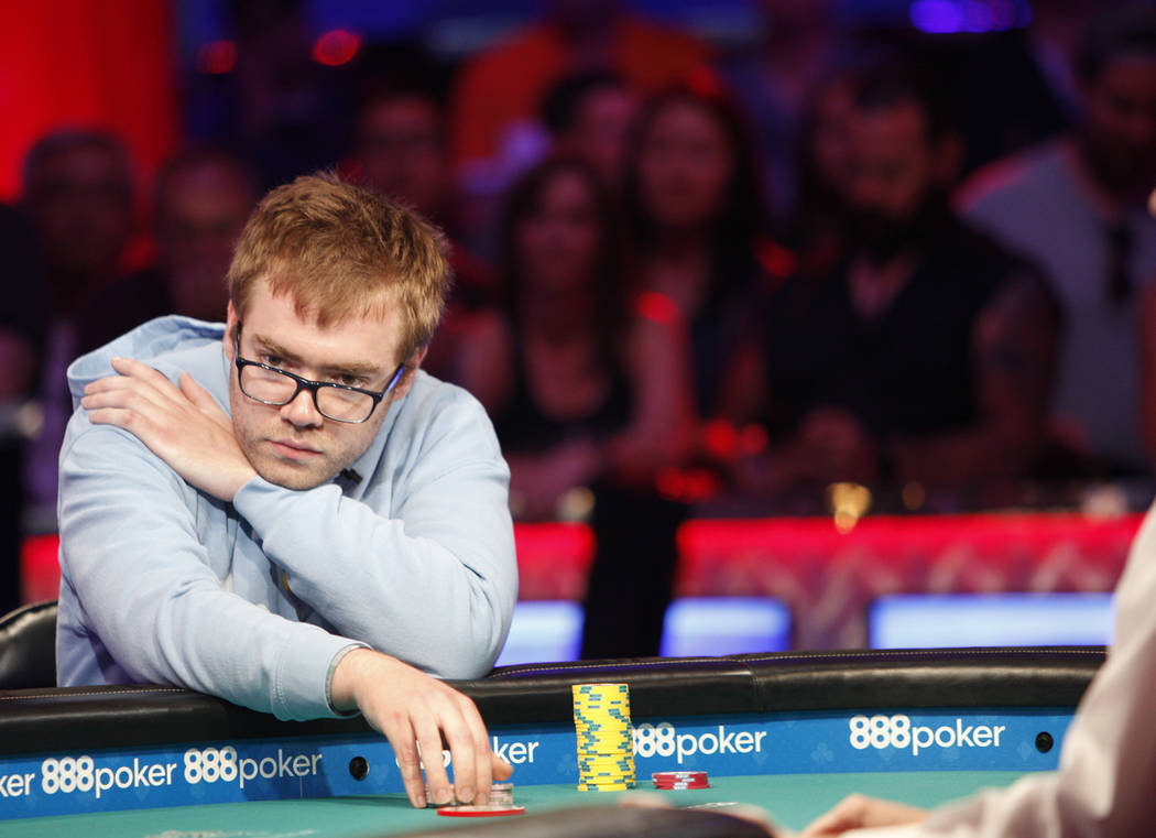 Michael Dyer on day three of the main event final table at the World Series of Poker tournament at the Rio Convention Center in Las Vegas, Saturday, July 14, 2018. Rachel Aston Las Vegas Review-Jo ...