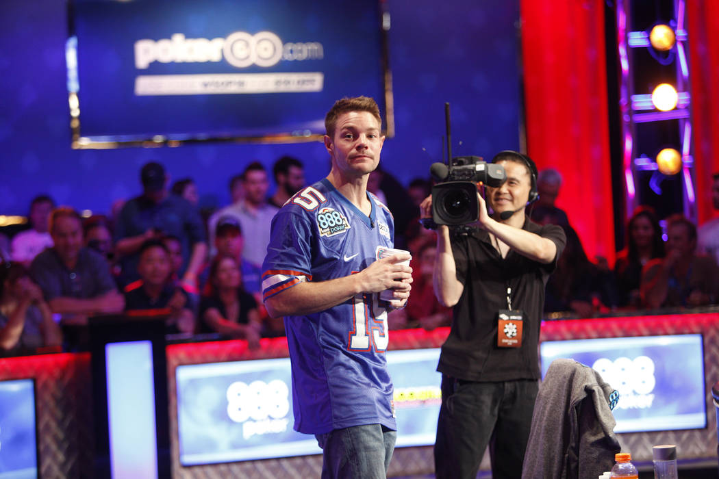 Tony Miles on day three of the main event final table at the World Series of Poker tournament at the Rio Convention Center in Las Vegas, Saturday, July 14, 2018. Rachel Aston Las Vegas Review-Jour ...