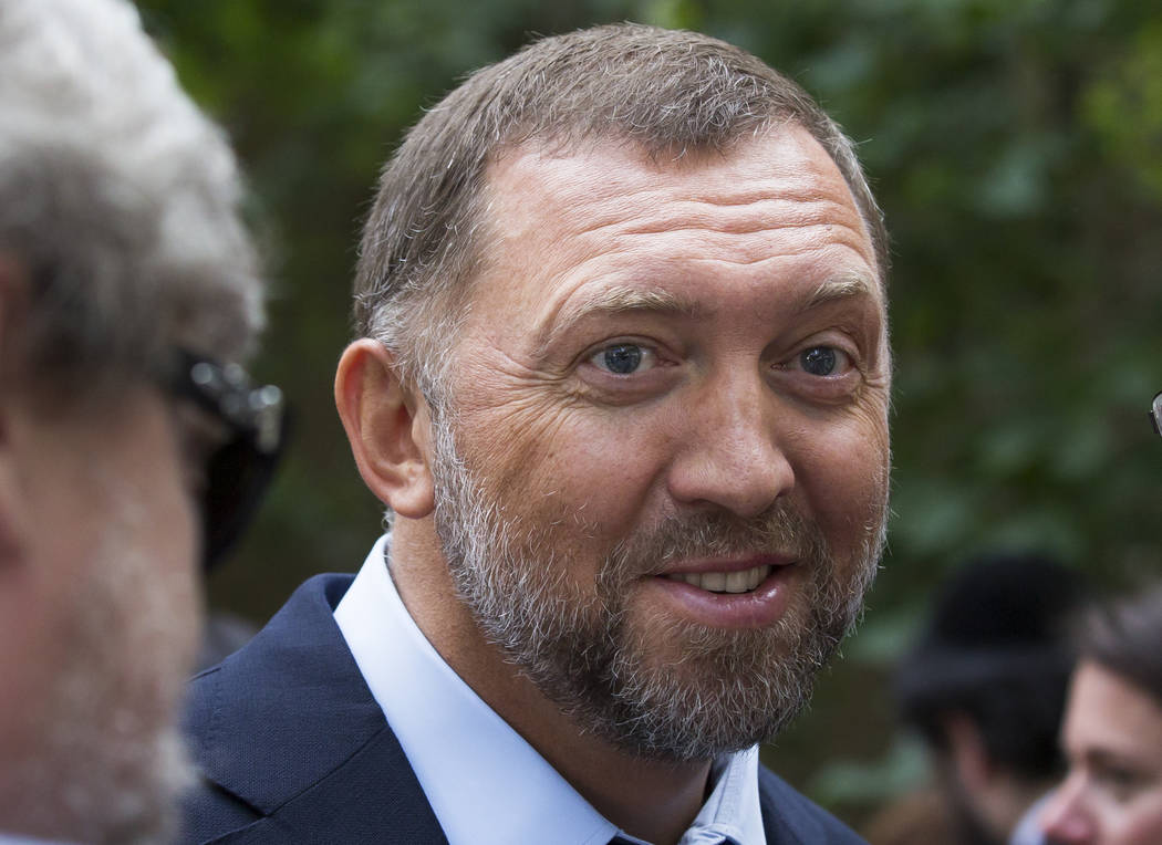 Russian metals magnate Oleg Deripaska attends Independence Day celebrations at Spaso House, the residence of the American Ambassador, in Moscow, Russia, on July 2, 2015. A U.S. lobbying firm sough ...