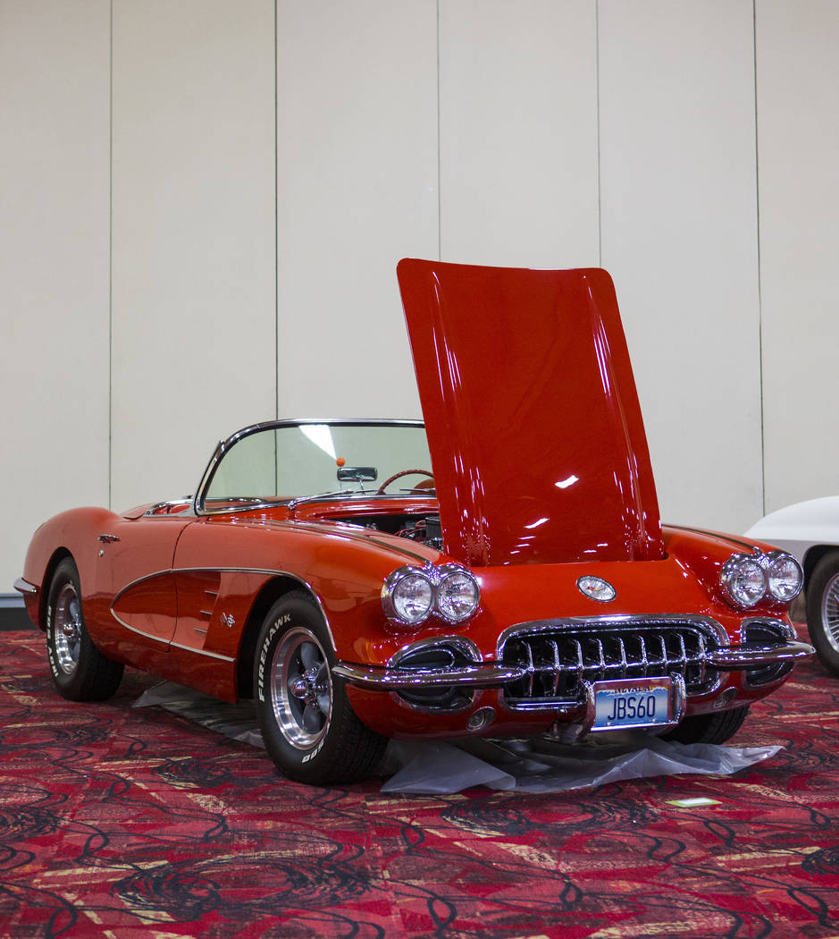 A 1960 Corvette owned by John Buchholz during the National Corvette Restorers Society convention at the South Point in Las Vegas on Tuesday, July 17, 2018. Chase Stevens Las Vegas Review-Journal @ ...