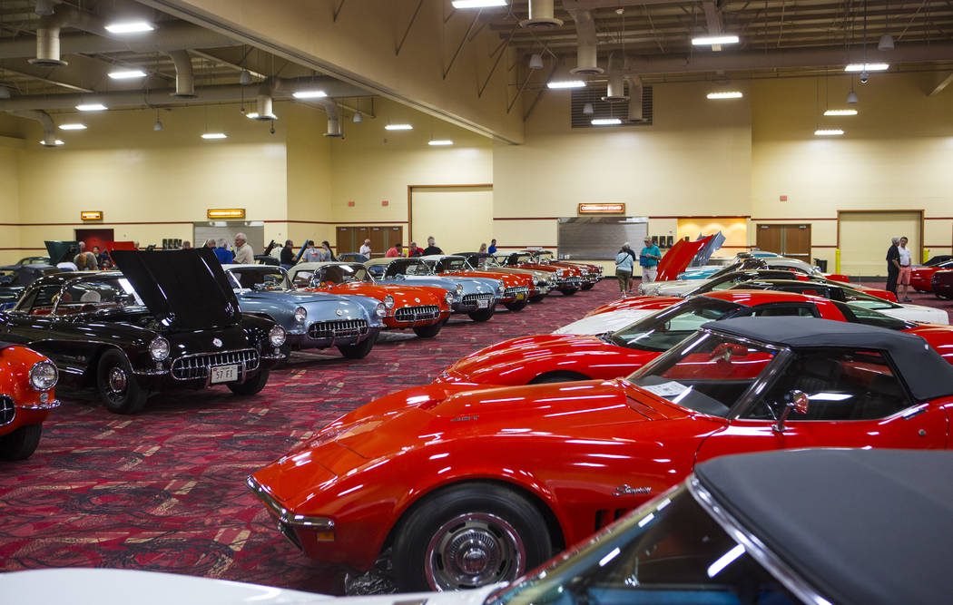 The convention floor for the National Corvette Restorers Society at the South Point in Las Vegas on Tuesday, July 17, 2018. Chase Stevens Las Vegas Review-Journal @csstevensphoto
