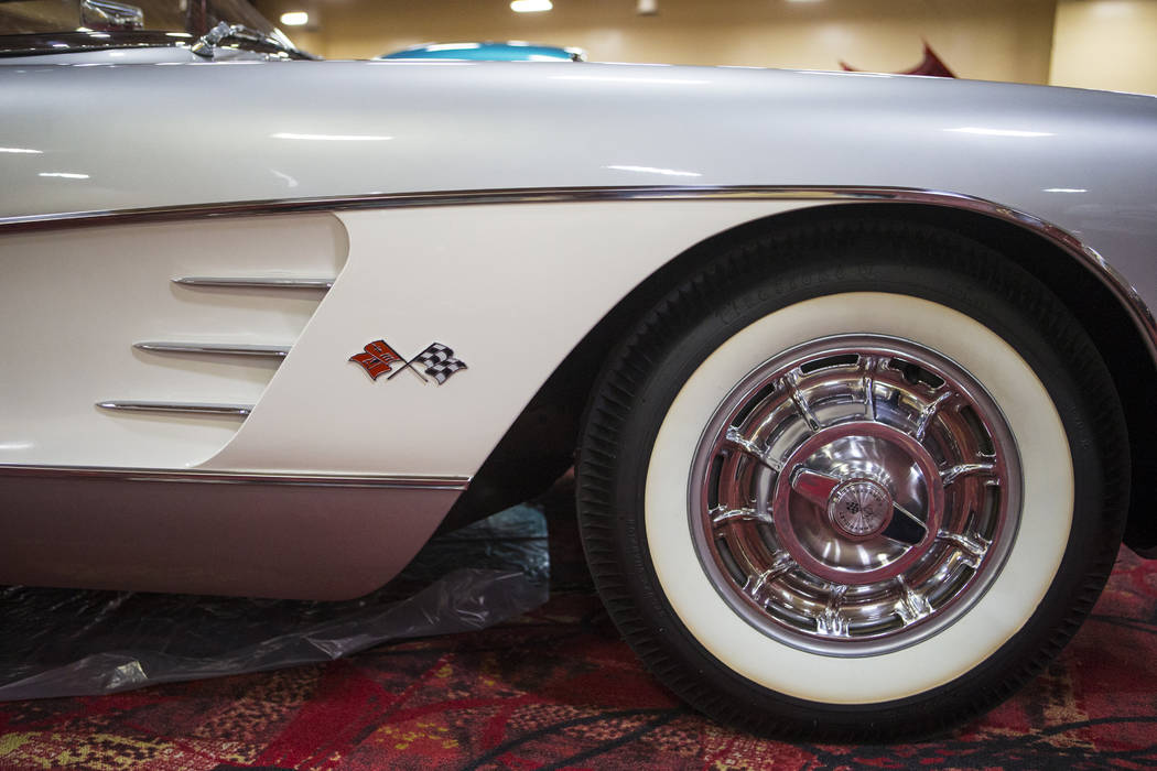 Details of a 1958 Corvette owned by Dan Johnson during the National Corvette Restorers Society convention at the South Point in Las Vegas on Tuesday, July 17, 2018. Chase Stevens Las Vegas Review- ...