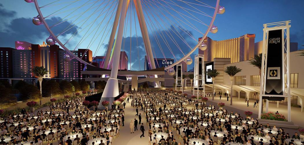 Rendering of plaza of Caesars Forum meeting center (Caesars Entertainment)