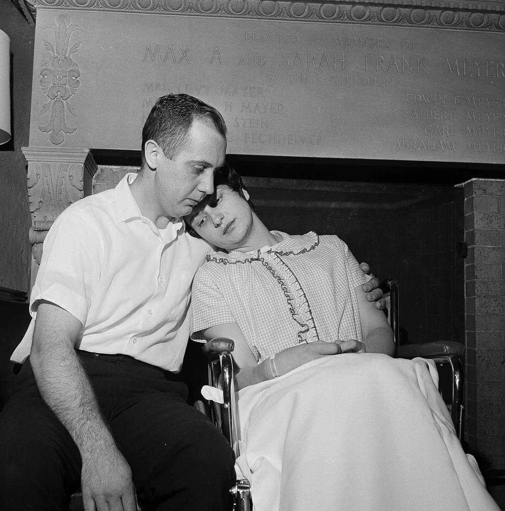Chester and Dora Fronczak are pictured at a news conference in Michael Reese Hospital in Chicago, April 30, 1964. Couple seeks return of infant son, Paul Joseph Fronczak, who was taken from his mo ...