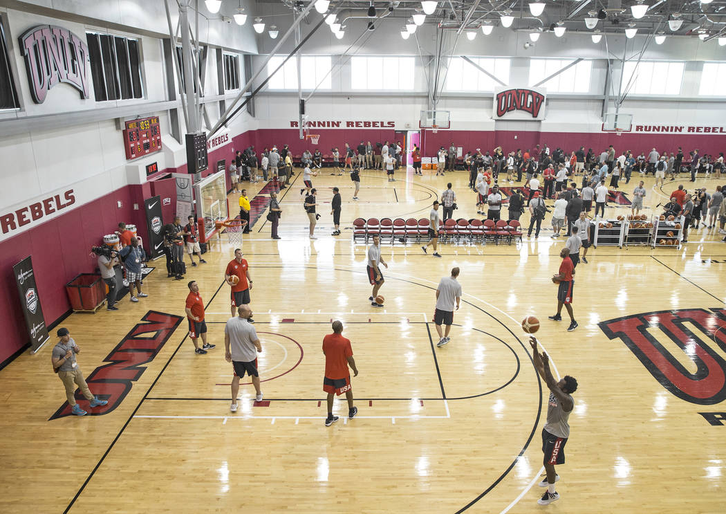 Team USA basketball's minicamp on Thursday, July 26, 2018, at the Mendenhall Center, in Las Vegas. Benjamin Hager Las Vegas Review-Journal @benjaminhphoto