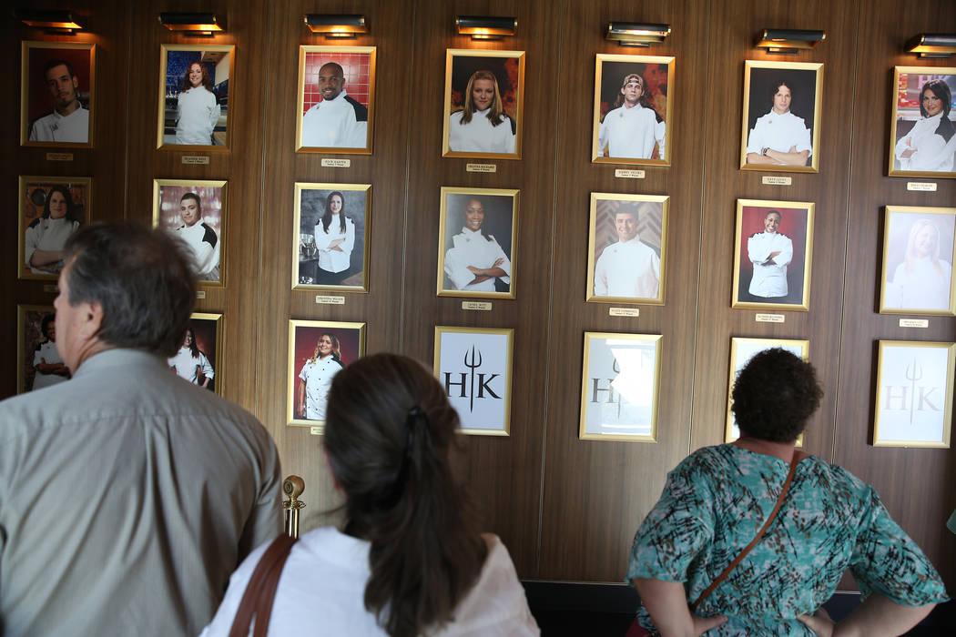 People wait to be seated at at Gordon Ramsay Hell's Kitchen in Las Vegas, Tuesday, July 17, 2018. Erik Verduzco Las Vegas Review-Journal @Erik_Verduzco