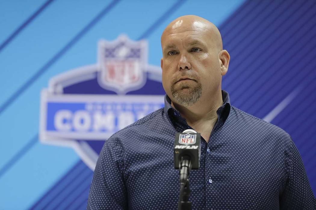 Arizona Cardinals general manager Steve Keim speaks during a press conference at the NFL football scouting combine in Indianapolis on Wednesday, Feb. 28. Keim has pleaded guilty to extreme DUI aft ...
