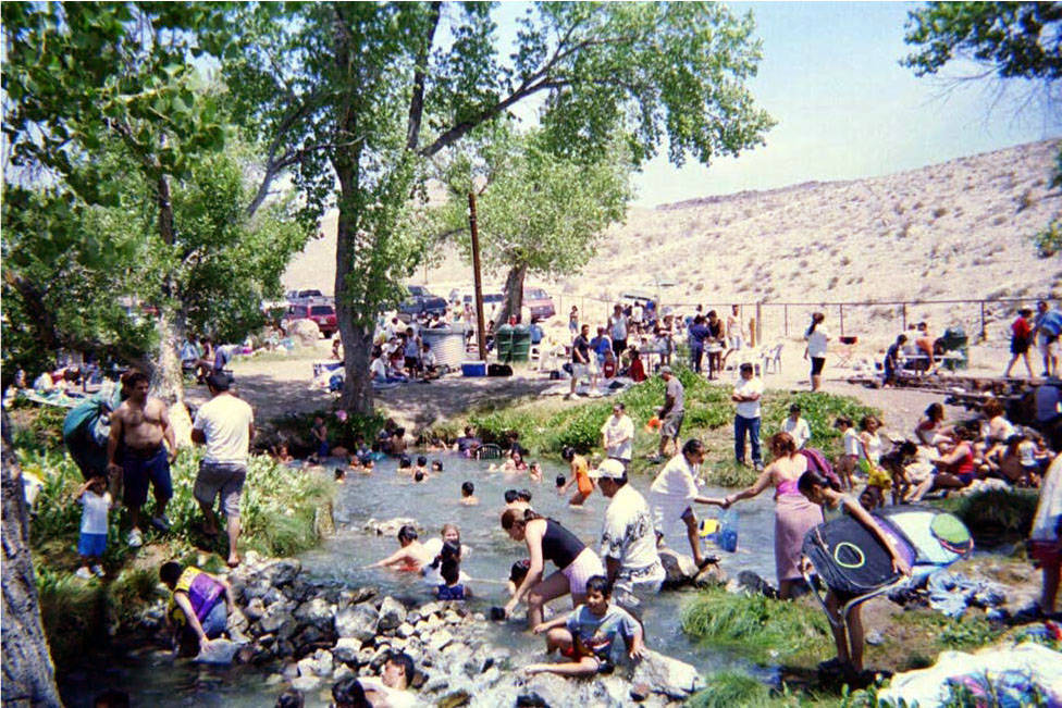 This May 2003 Ash Springs Recreation Site photo shows overcrowding. Bureau of Land Management