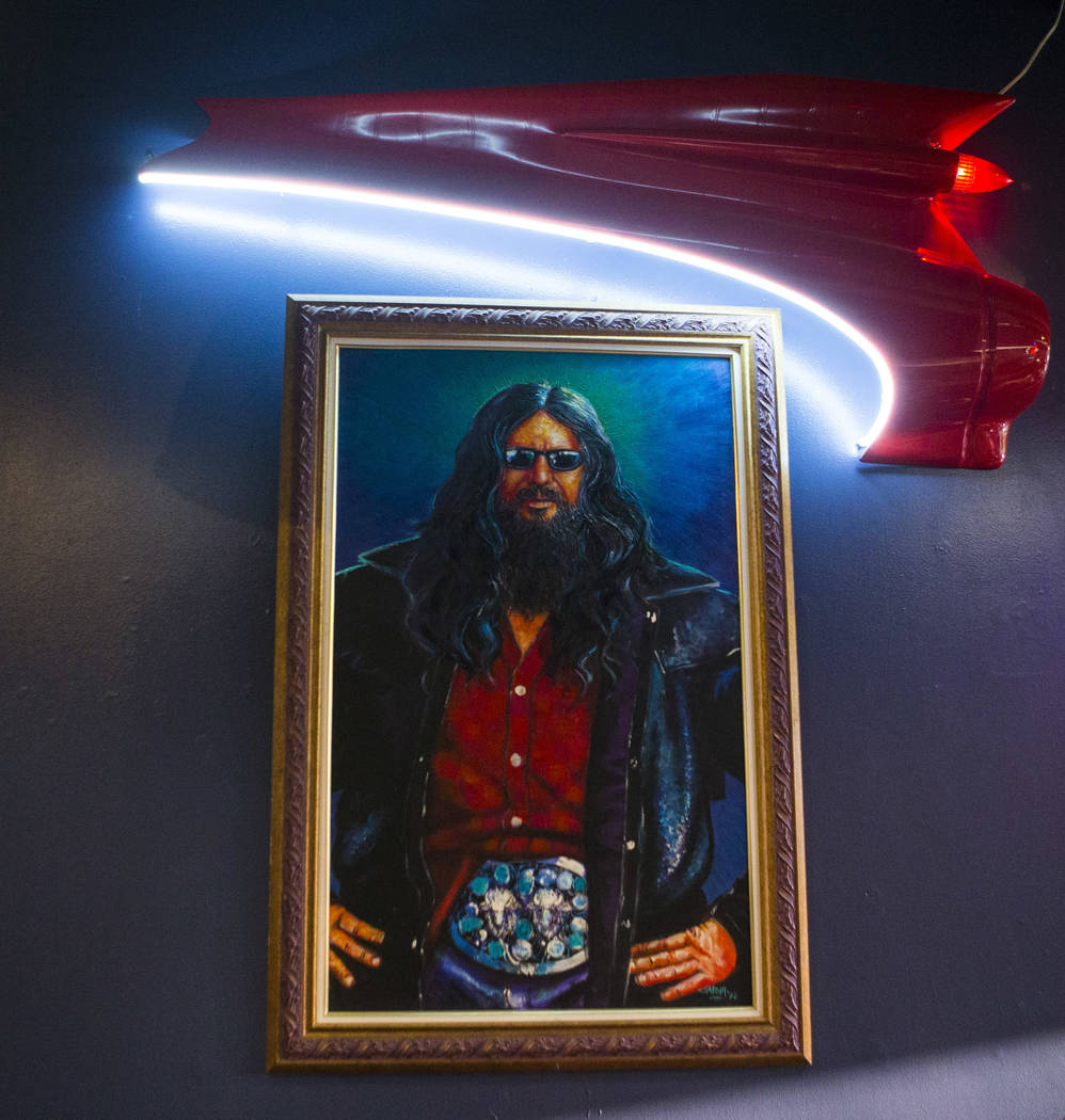 "A painting of James ""Buffalo Jim"" Barrier at Nevada Taste Site on Main Street in downtown Las Vegas' arts district on Thursday, July 19, 2018. Chase Stevens Las Vegas Review-Journal @css ..."