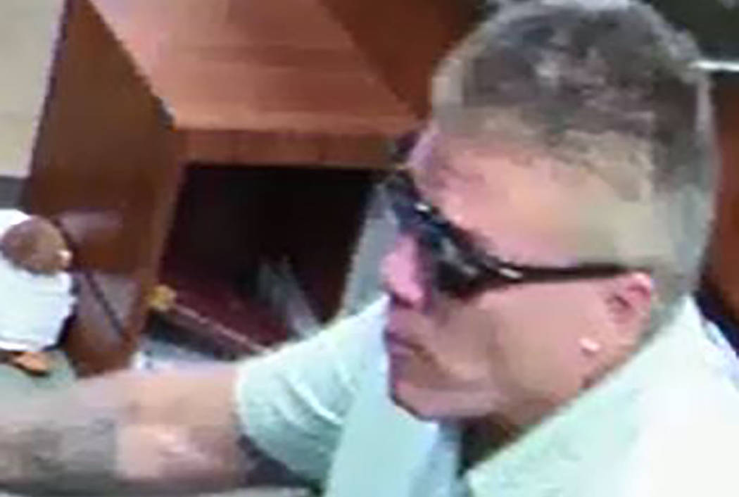 Suspect in the robbery of a Summerlin business on July 17, 2018. (Las Vegas Metropolitan Police Department)