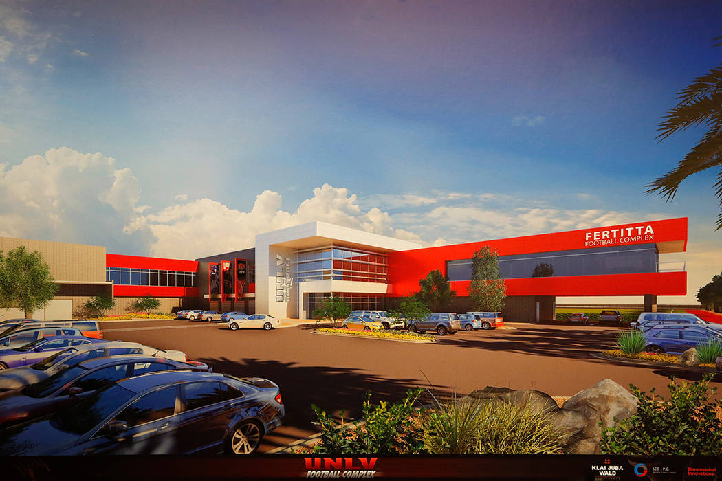 This is a handout rendering of the Fertitta Football Complex released by UNLV, Tuesday, Sept. 13, 2016. (UNLV)