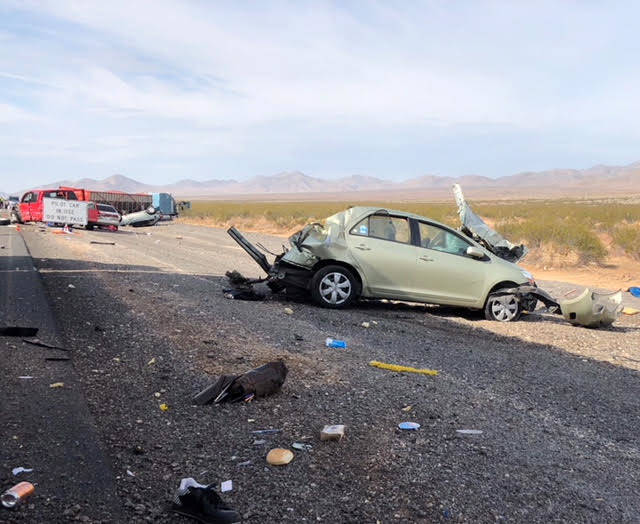 Sleepy trucker blamed for fatal crash north of Las Vegas
