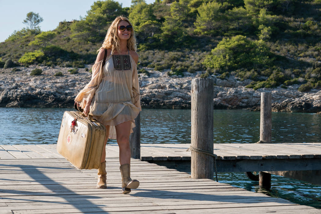 """Lily James stars as Young Donna in """"Mamma Mia! Here We Go Again."""" Ten years after """"Mamma Mia! The Movie,"""" you are invited to return to the magical Greek island of Kalokairi in an all-new original ..."""