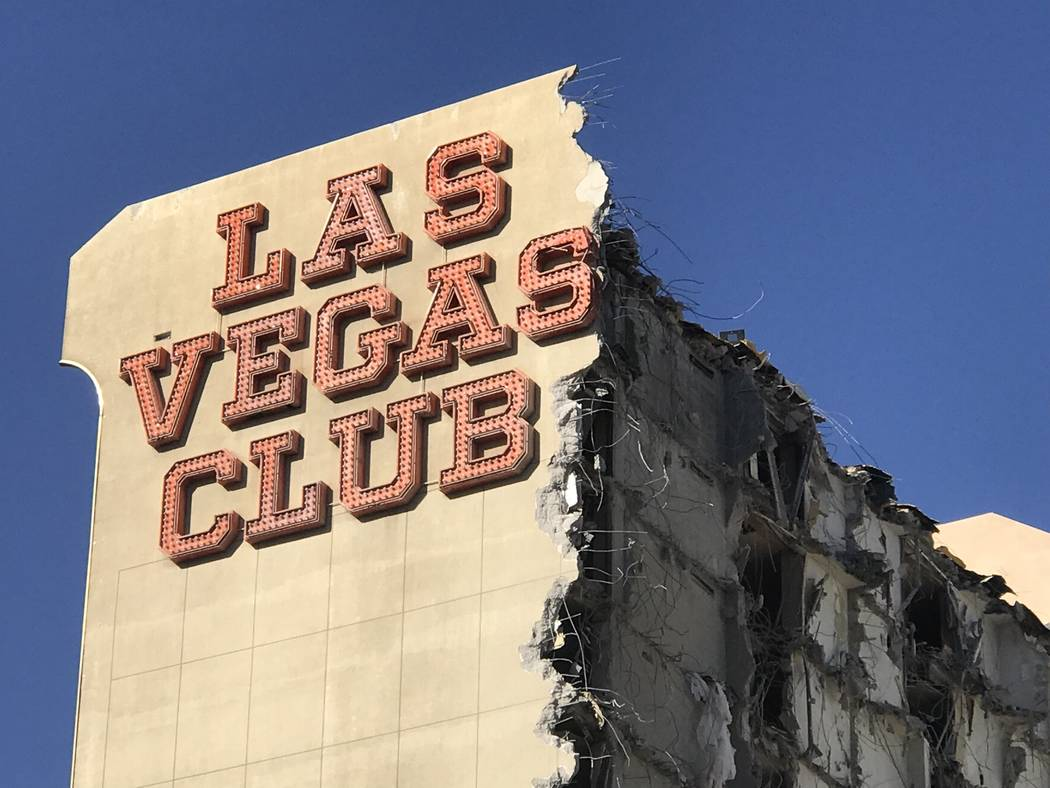 The old Las Vegas Club building on Thursday Oct. 5, 2017.The owners of downtown's D Las Vegas and Golden Gate properties are beginning the process to turn the old Las Vegas Club into a new hotel-c ...