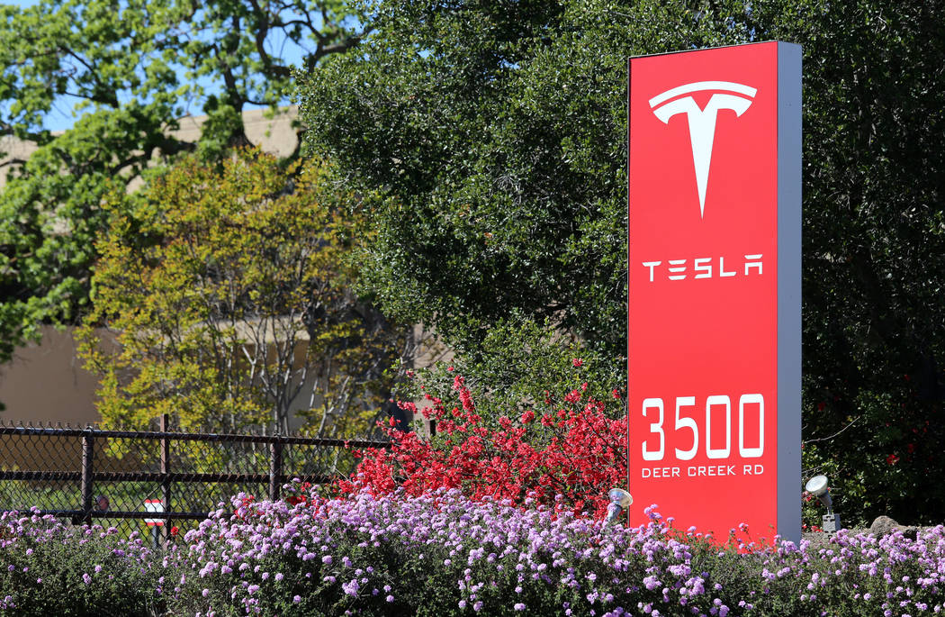 The Tesla Motors World Headquarters in Palo Alto on March 18, 2014. (Getty Images)