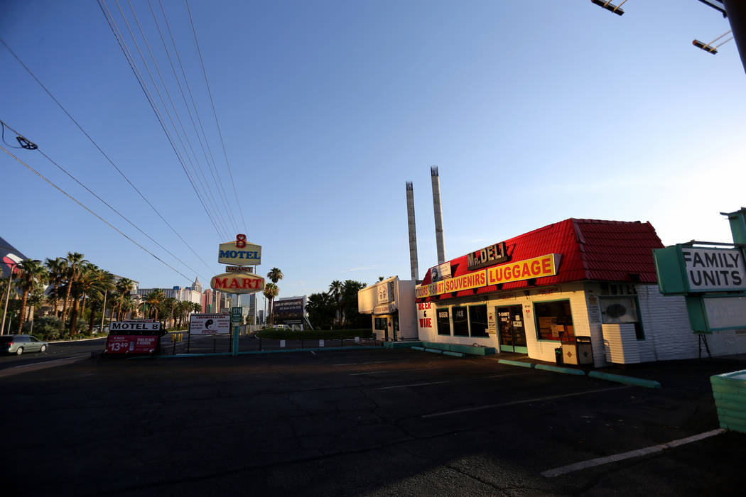 The retail area of the closed Motel 8 on the south Strip in Las Vegas Thursday, July 19, 2018. K.M. Cannon Las Vegas Review-Journal @KMCannonPhoto