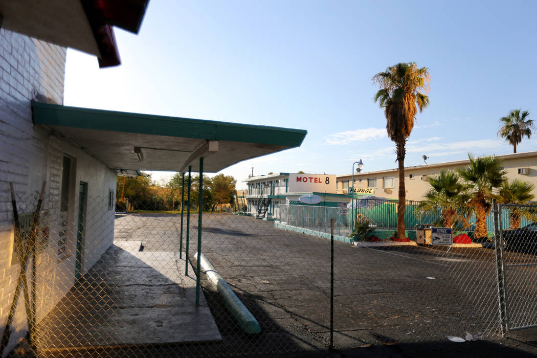 The closed Motel 8 on the south Strip in Las Vegas Thursday, July 19, 2018. K.M. Cannon Las Vegas Review-Journal @KMCannonPhoto