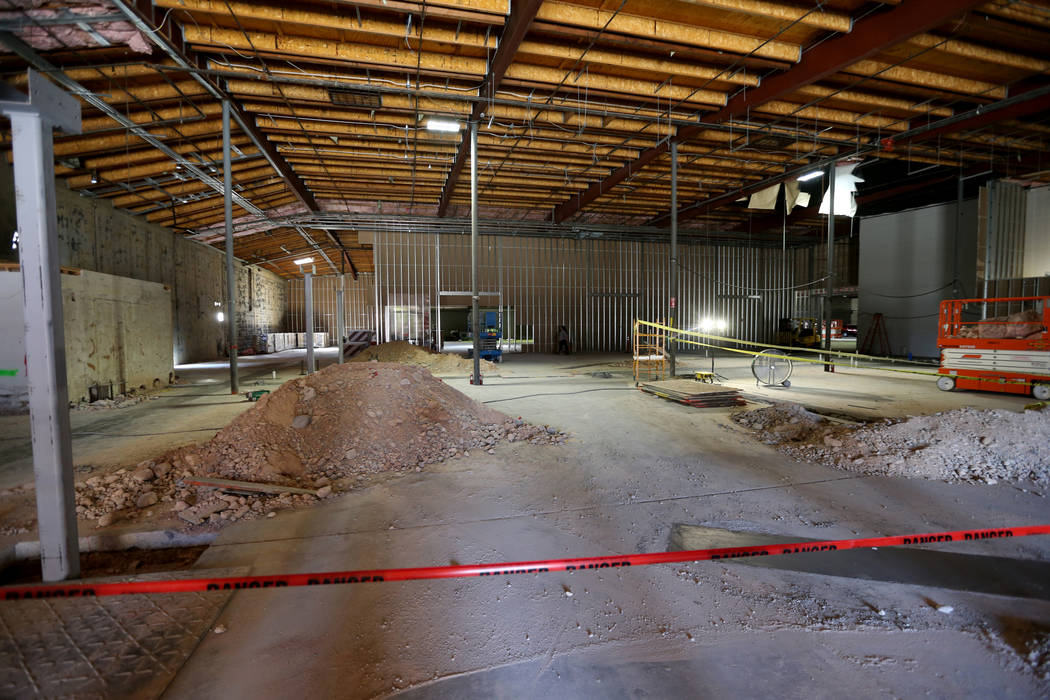 Planet 13 Superstore dispensary, a cannabis entertainment complex, under construction at 2548 W. Desert Inn Road in Las Vegas, Thursday, July 19, 2018. Company officials said the facility will ope ...