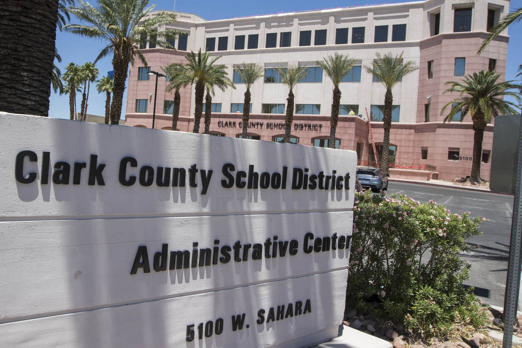 Clark County School District administration building located at 5100 West Sahara Ave. in Las Vegas (Richard Brian/Las Vegas Review-Journal)