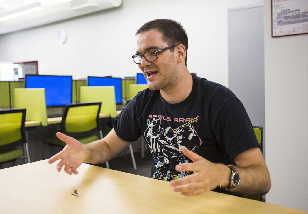 Enes Djesevic, a medical student in the class of 2022, talks about his first week of classes at UNLV's School of Medicine on the Shadow Lane campus in Las Vegas on Wednesday, July 18, 2018. Chase ...