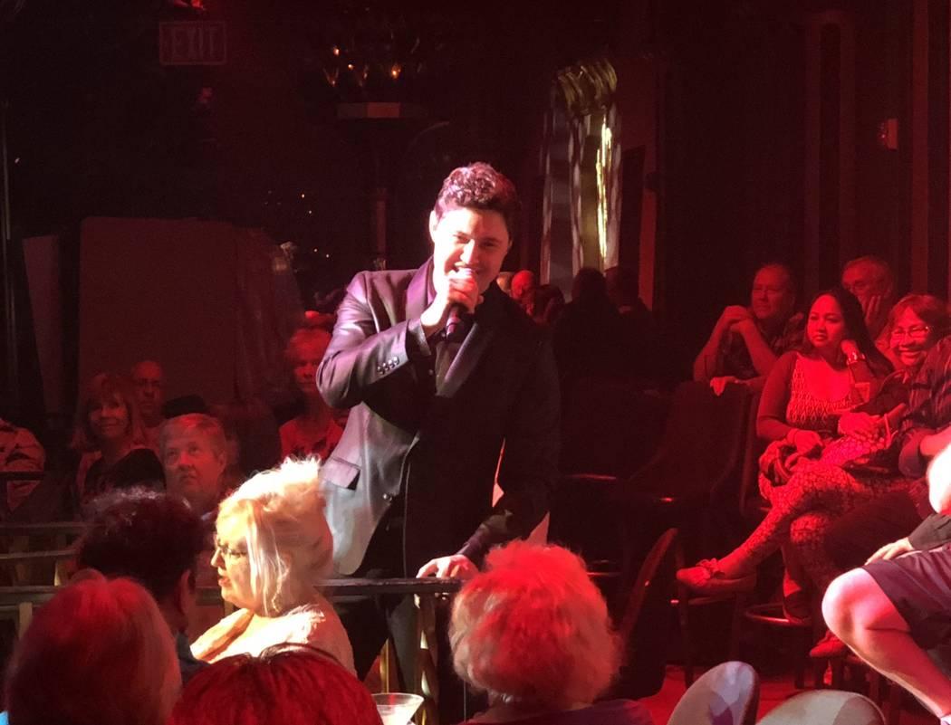 "Daniel Emmet is shown in ""The Cocktail Cabaret"" on Saturday, June 17, 2018. (John Katsilometes/Las Vegas Review-Journal)"