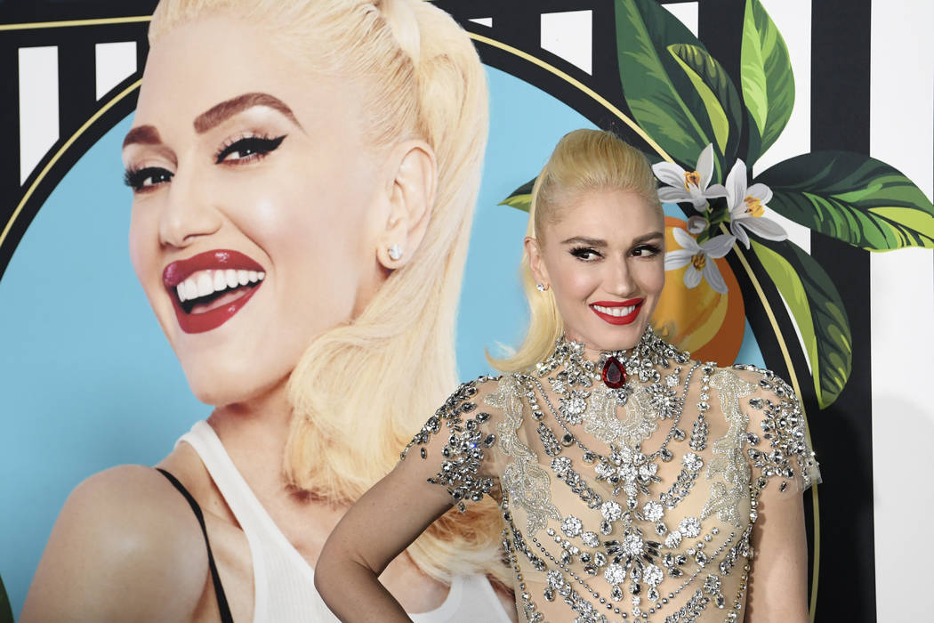 Gwen Stefani arrives on the red carpet for her new residency at Planet Hollywood in Las Vegas, Thursday, June 28, 2018. (Sam Morris/Las Vegas News Bureau)