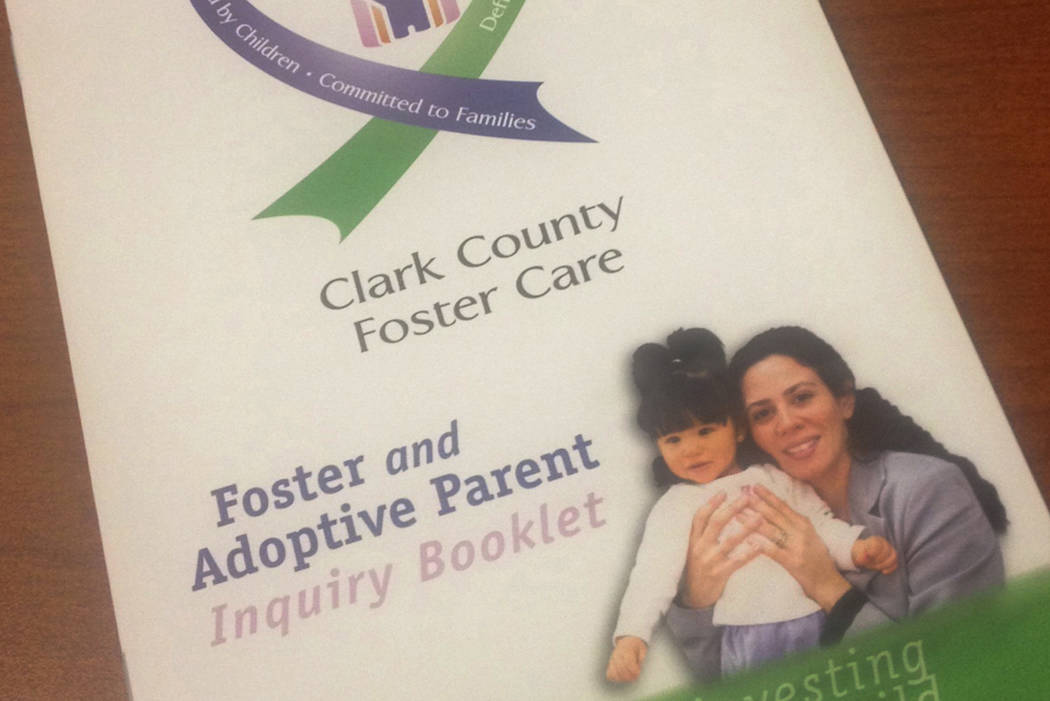 A Clark County foster care information booklet is shown, March 2015. (Special to View/Las Vegas Review-Journal)