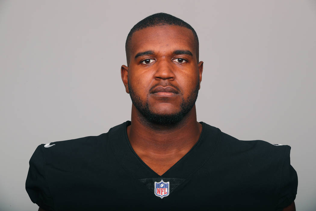 This is a 2018 photo of Brandon Parker of the Oakland Raiders NFL football team. This image reflects the Oakland Raiders active roster as of Thursday, May 3, 2018 when this image was taken. (AP Photo)