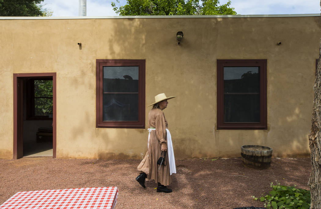 "Former Clark County Museum curator Dawna Jolliff attends the ""Pioneer Day"" event at the Old Las Vegas Mormon Fort State Historical Park in Las Vegas on Saturday, July 21, 2018. Chase Ste ..."