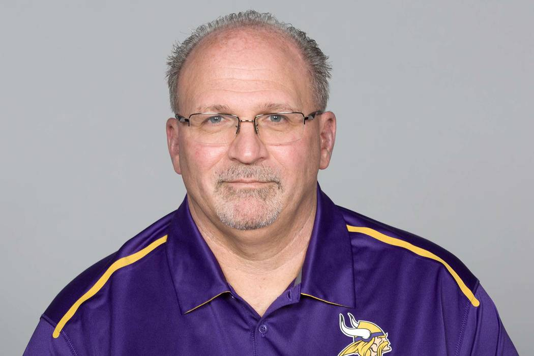 Tony Sparano of the Minnesota Vikings NFL football team in 2016. Sparano died Sunday, July 22, 2018. He was 56. (AP)