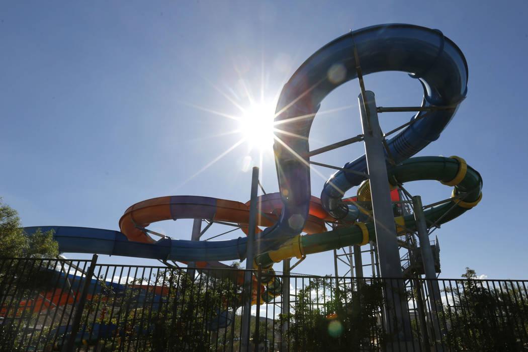 Wet 'n' Wild is seen in Las Vegas, Sunday, July 22, 2018. Wet 'n' Wild was closed Sunday after an undergound water leak, park officials said. Chitose Suzuki Las Vegas R ...