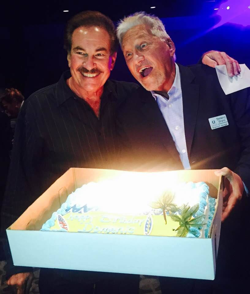 Domenic Strano, right, is shown with Alan Glist at Strano's 68th birthday party in August 2017 at Harrah's Las Vegas. (Alan Glist)
