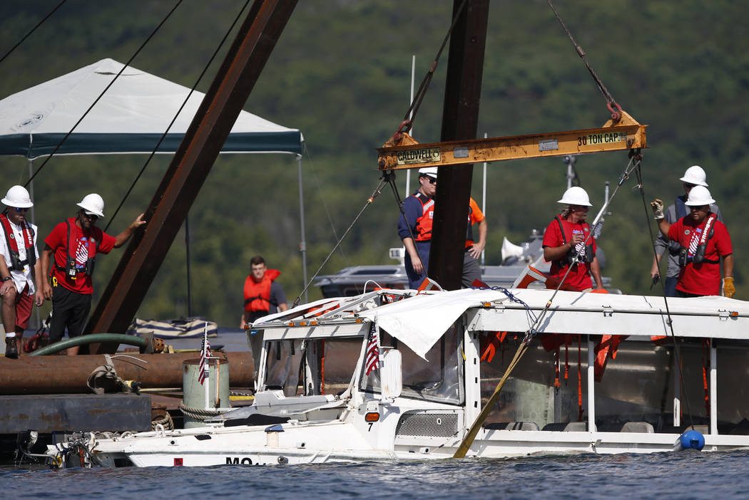 Duck Boat Involved In Deadly Accident Raised From Missouri Lake Las Vegas Review Journal