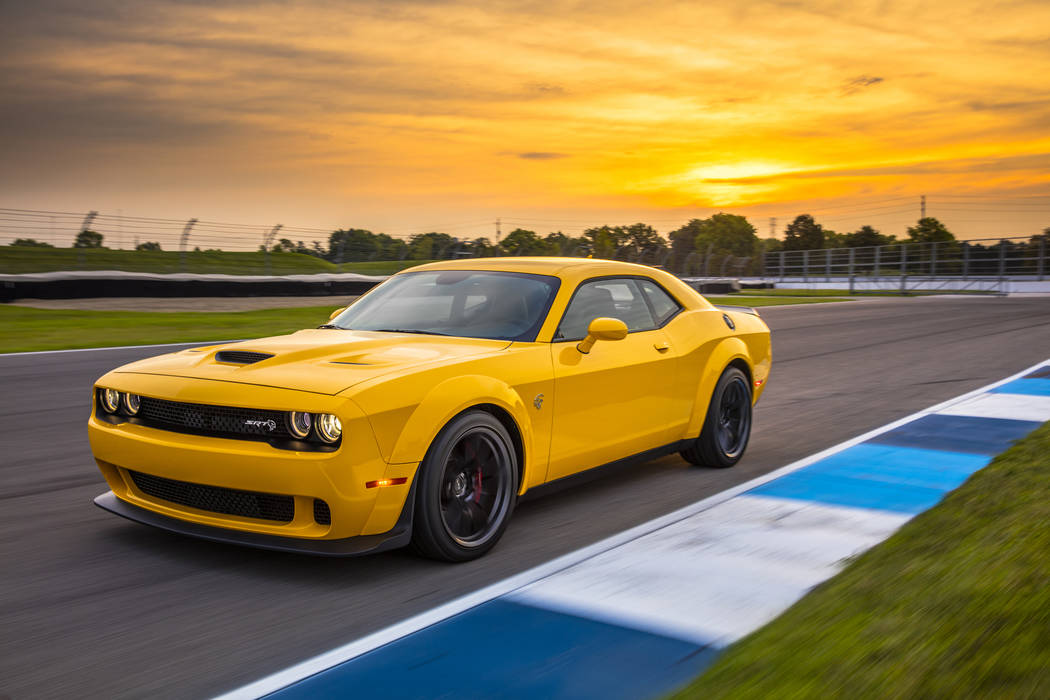 The 2018 Challenger SRT Hellcat is guaranteed to turn heads, but don't blink because with 707 horsepower you might just miss it. (Dodge)