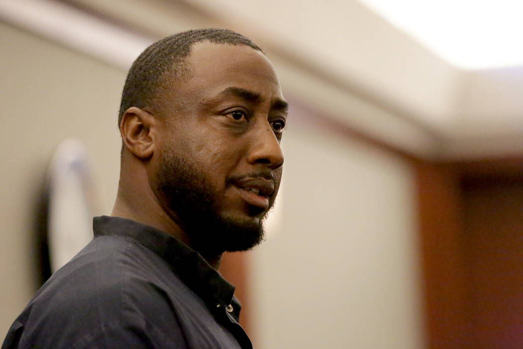 Ocean Fleming, the convicted pimp serving life in prison, appears in court for a new sentencing hearing on Tuesday, July 24, 2018 at the Regional Justice Center. Michael Quine Las Vegas Review-Jou ...