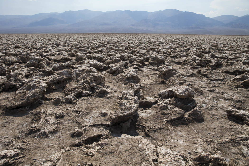 A view of the crystalline salt spires as seen from DevilÕs Golf Course in Death Valley National Park, Calif., Thursday, July 26, 2018. Richard Brian Las Vegas Review-Journal @vegasphotograph