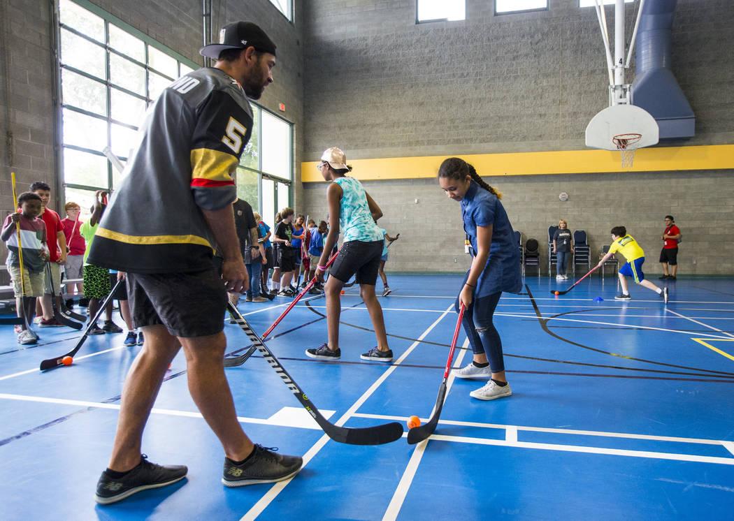 Golden Knights' Engelland helps kids with street hockey