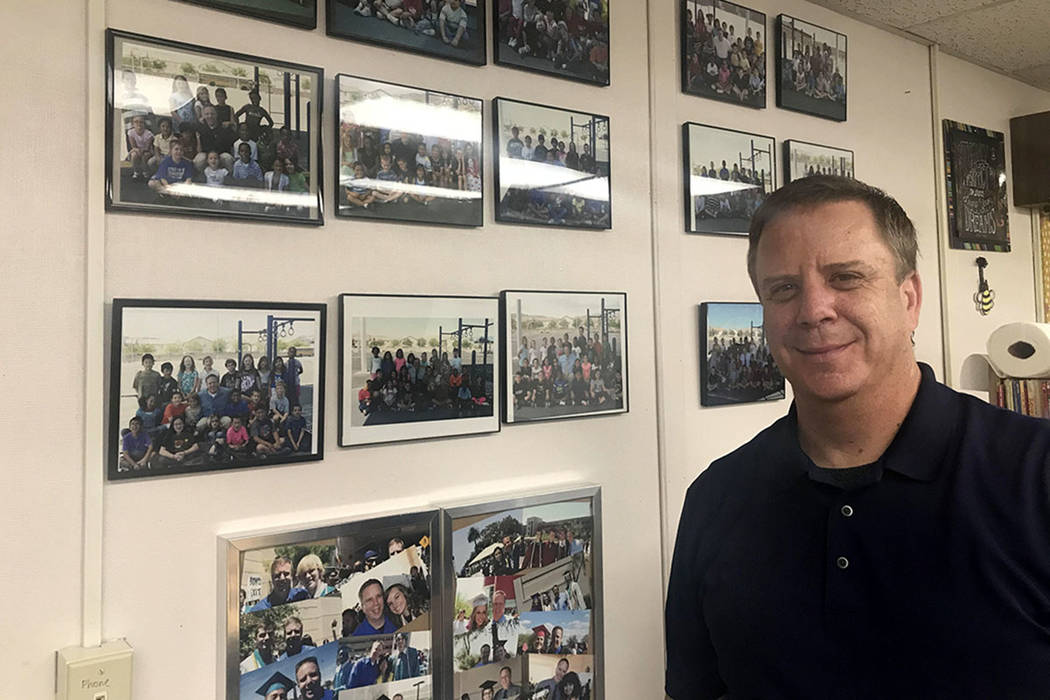 Jim Masden, who has been teaching 22 years in the Clark County School District, is seen In his classroom at Tanaka Elementary School in Las Vegas, Friday, July 27, 2018. (Amelia Pak-Harvey/Las Veg ...