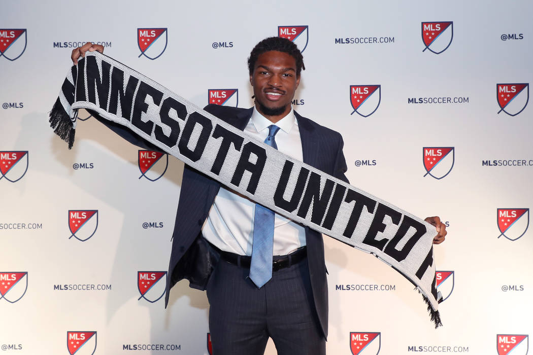 PHILADELPHIA, PA - JANUARY 19: Carter Manley was taken with the 23rd overall pick by Minnesota United FC during the MLS SuperDraft 2018 on January 19, 2018, at the Pennsylvania Convention Center i ...