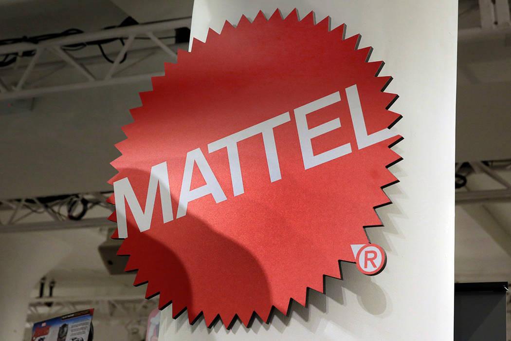This April 26, 2018, file photo shows the Mattel logo at the TTPM 2018 Spring Showcase in New York. (AP Photo/Richard Drew, File)